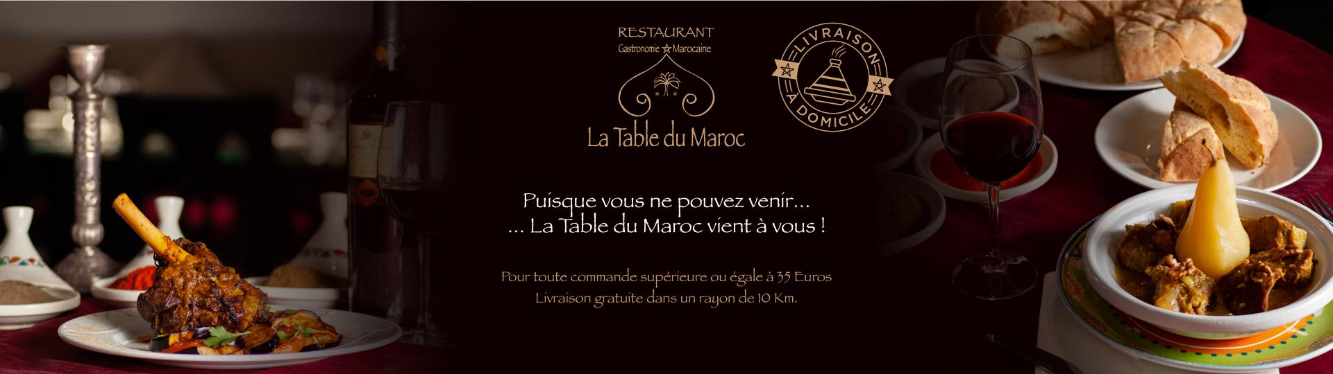 Se faire livrer un couscous ou un tajine de la Table du Maroc